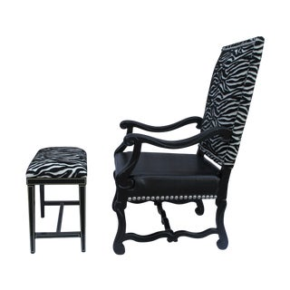 Spanish Revival Hollywood Glam Chair Set For Sale