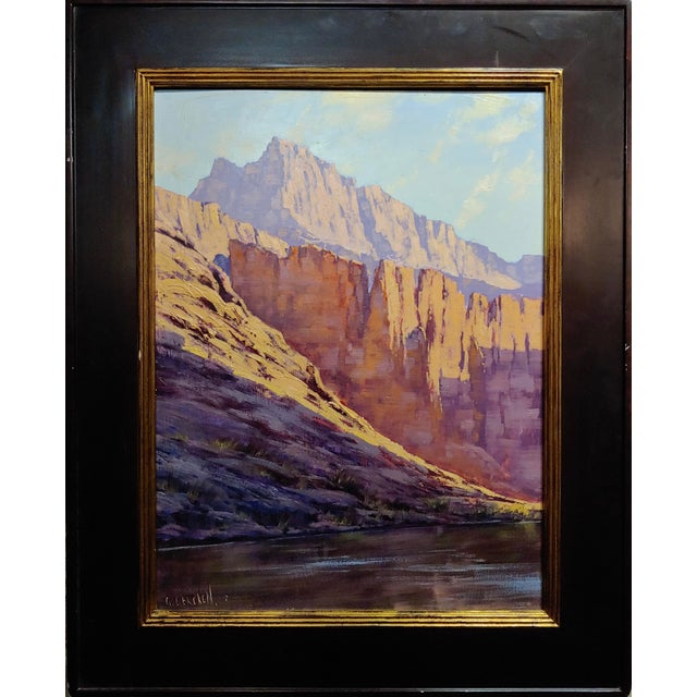 Lovely Graham Gercken Grand Canyon Cliffscape Impressionist Oil