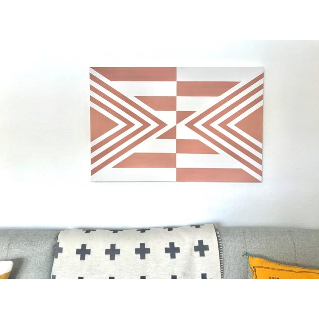 Contemporary Contemporary Geometric Hard-Edge Painting by Natasha Mistry For Sale - Image 3 of 10
