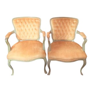 French Provincial Fauteuil Chairs - A Pair
