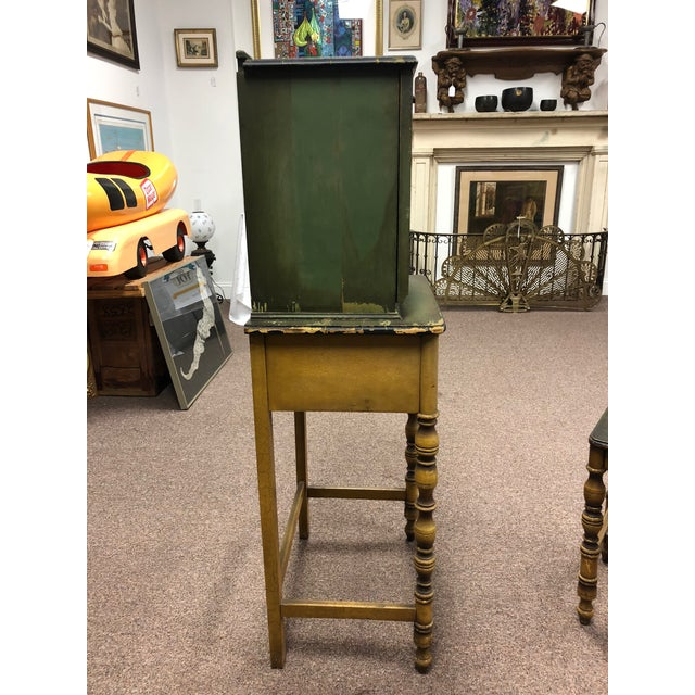 Americana 1920s Americana Green Wooden Telephone Table For Sale - Image 3 of 11