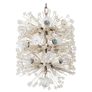 Rupert Nikoll for Emil Stejnar Snowball Sputnik Chandelier, 1950s Vienna For Sale