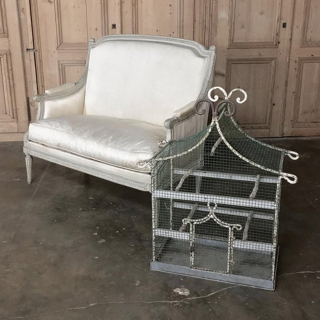 19th Century French Painted Wire Pagoda Birdcage For Sale In Dallas - Image 6 of 13