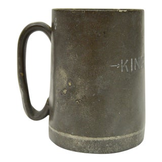 Mid 18th Century Antique English Pewter Tankard Mug For Sale