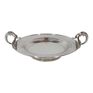 1930s Silver Plate Serving Bowl For Sale