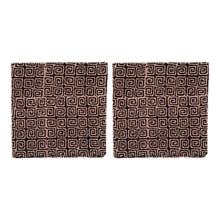 Countryside Maze Napkins, Black - A Pair For Sale