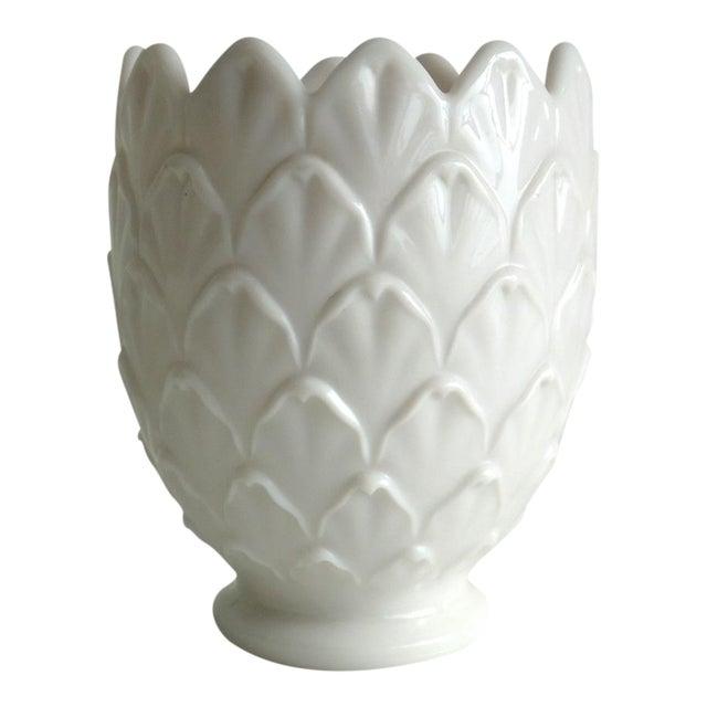Pale Pink Milkglass Vase - Image 1 of 3