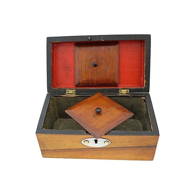 Antique English Tea Box For Sale - Image 4 of 8