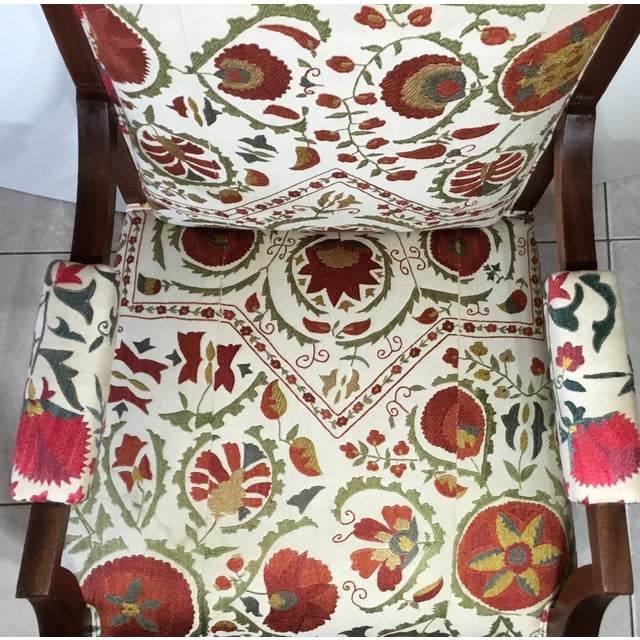 1960s Vintage French Suzani Armchair For Sale - Image 10 of 13