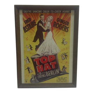 "Vintage ""Top Hat"" Movie Poster For Sale"
