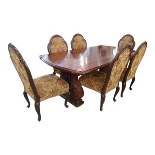 Traditional Dining Extendable Table & Chairs - Set of 7