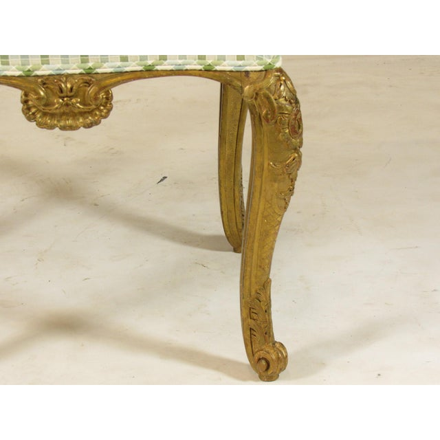 Rococo 19th C. Vintage French Bench Seat For Sale - Image 3 of 10