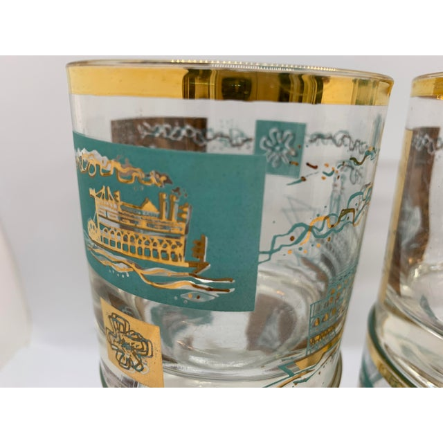 1950s 1950s Mid-Century Culver Steamboat Lowball Glasses - Set of 6 For Sale - Image 5 of 8