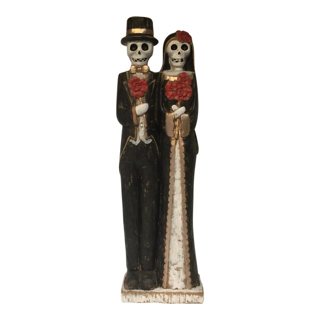 Day of the Dead Bride & Groom Figurine For Sale
