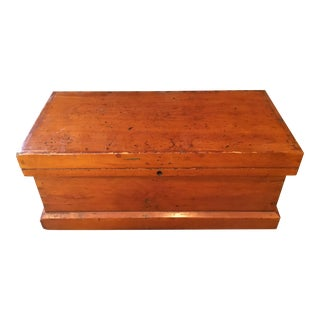Antique Wooden Tool Chest For Sale