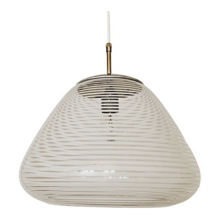 Mid-Century Modern Glass Pendant Lamp by Wilhelm Wagenfeld for Peill and Putzler For Sale