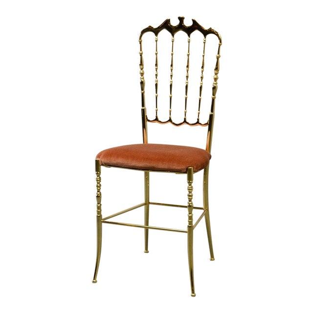Mid-Century Italian Design Side Chair by Giuseppe Gaetano Descalzi for Chiavari, Italy, 1950s For Sale