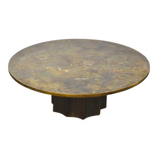 Phillip and Kelvin Laverne Bronze Coffee Table For Sale
