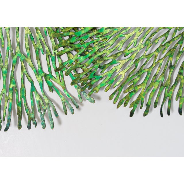 2010s Green and Gold Iron Coral Wall Sculpture by Fabio Ltd. For Sale - Image 5 of 6