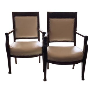 19th Century Empire Armchairs- A Pair For Sale