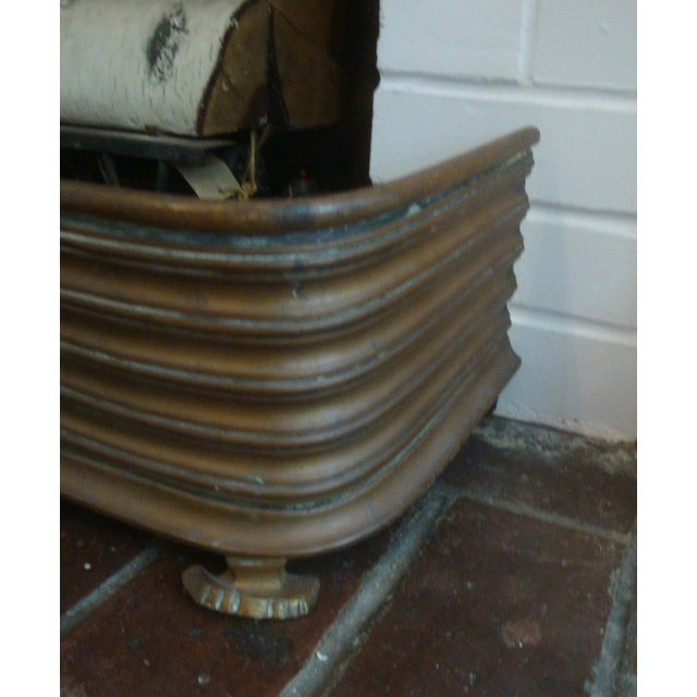 Early Arts & Crafts Brass Fireplace Fender Rail For Sale In Richmond - Image 6 of 9