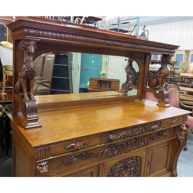 Renaissance Renaissance Style Sideboard With Superstructure For Sale - Image 3 of 11