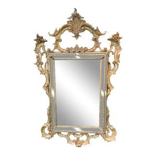 1970s Italian Rococo Rectangular Gilt Mirror by La Barge For Sale