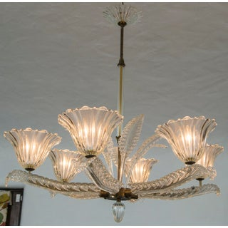 Italian Murano Six-Arm Chandelier by Barovier and Toso, Circa 1940 Preview