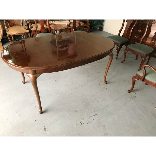 1970s Thomasville Queen Anne Dining Table For Sale - Image 13 of 13