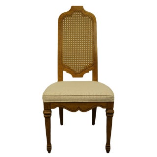 Late 20th Century Vintage Heritage Furniture Italian Style Cane Back Dining Side Chair For Sale
