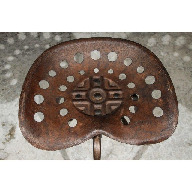 Industrial Set of Four Mid-Century Industrial Swivel Chairs on Tripod Legs From Belgium For Sale - Image 3 of 7