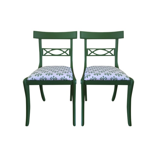1920's Solid Mahogany Chairs - A Pair - Image 1 of 3