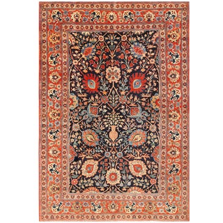 Antique Persian Tabriz Rug - 7′5″ × 10′8″ For Sale