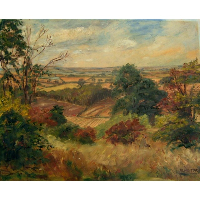 Mid-Century Landscape Painting For Sale - Image 4 of 4