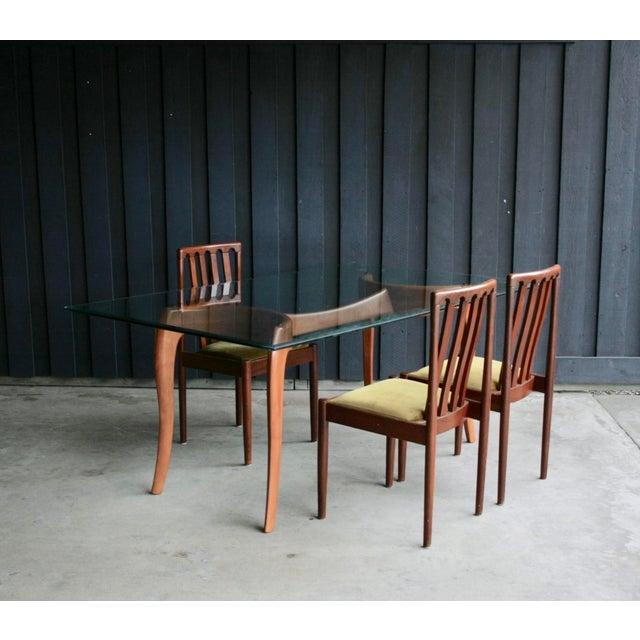 Danish Modern Danish Modern Anthropomorphic Carved Hardwood Dining Table For Sale - Image 3 of 13