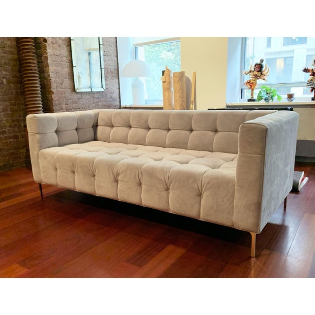 Contemporary ModShop Custom Made Tufted Sofa For Sale - Image 3 of 9