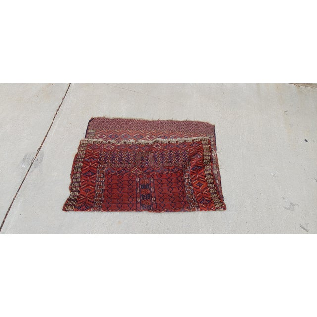 "Vintage Turkoman Tekke Rug-3'11'x5"" For Sale - Image 9 of 12"