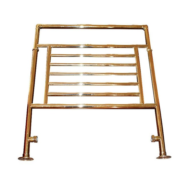Early 21st Century Vintage Bathroom Towel Warmer in Gold by Myson For Sale - Image 5 of 5