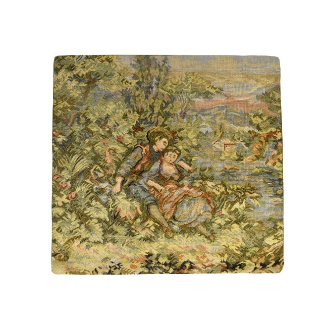 English French Style Fancy Tapestry Cushion Pillow Cover - Set of 4 For Sale - Image 3 of 7