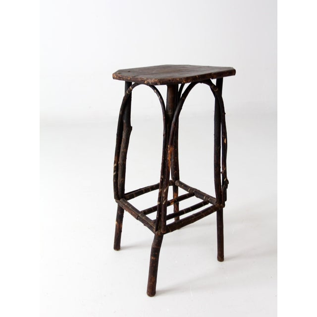 Wood Antique Adirondack Twig Table For Sale - Image 7 of 11