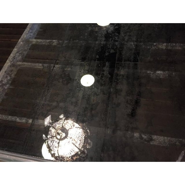 Antique Mirrored Hollywood Regency Decorative Dining Room Table For Sale In New York - Image 6 of 10