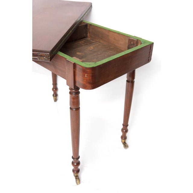 Victorian Mahogany Folding Top Game Table - Image 6 of 7