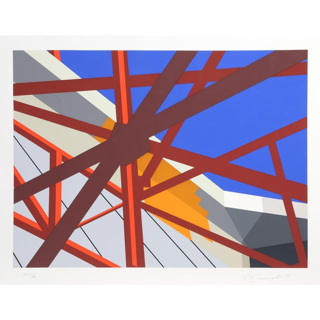 Abstract Allan D'Arcangelo, Web, Abstract Silkscreen For Sale - Image 3 of 3