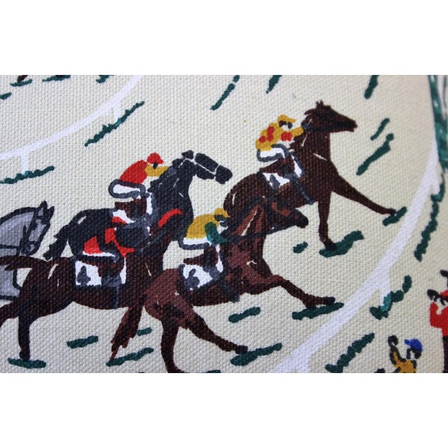Pair of Race Track Canvas Pillows For Sale In New York - Image 6 of 8