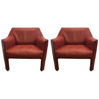Mario Bellini Cab Lounge Chairs - A Pair