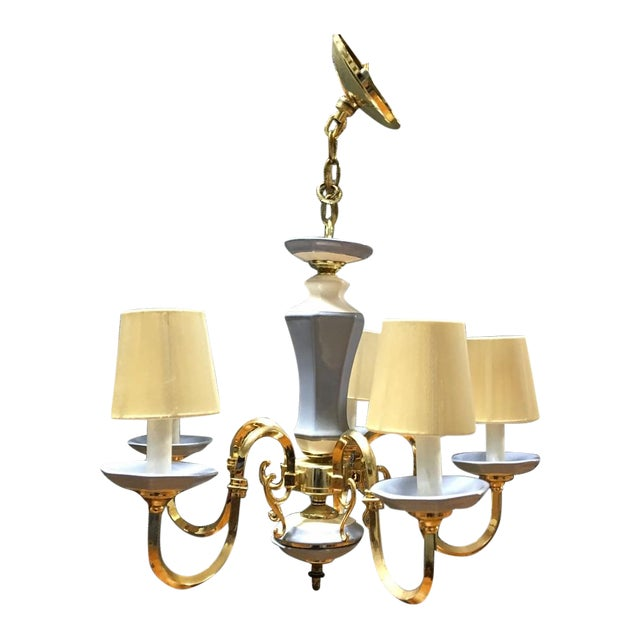 5-Lights With Shades Chandelier - Image 1 of 4