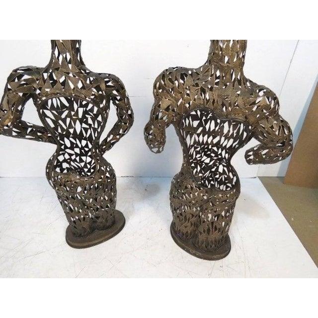 Brutalist Metal Torso Sculptures - A Pair - Image 4 of 4