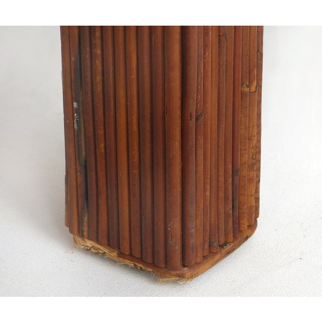 Pencil Reed Mid-Century Modern Coffee Table in the Style of Gabriella Crespi For Sale - Image 10 of 11