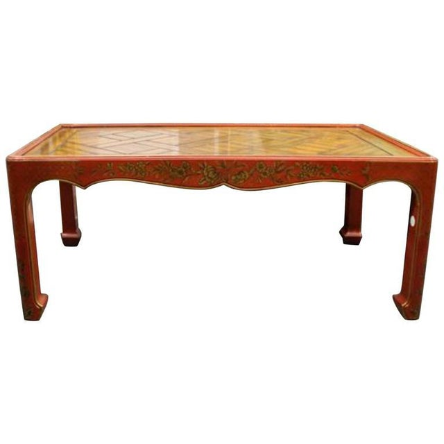 Asian Chinoiserie Decorated Low Table For Sale - Image 3 of 3