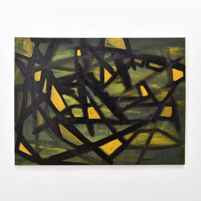"""Jaune"" Acrylic on Canvas Painting For Sale In Los Angeles - Image 6 of 6"